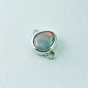 2.41 gr silver pendant 935 with semi black opal 1.14 ct