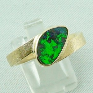 9.70 gr opalring, 14k goldring, ladies ring with boulder opal, pic1