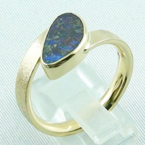 9.70 gr opalring, 14k goldring, ladies ring with boulder opal, pic4