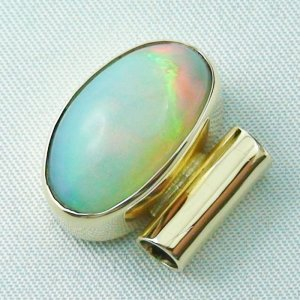 5,52 gr opalpendant, gold pendant 14k with Welo Opal, diamond, pic3