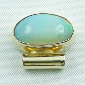 5,52 gr opalpendant, gold pendant 14k with Welo Opal, diamond, pic4