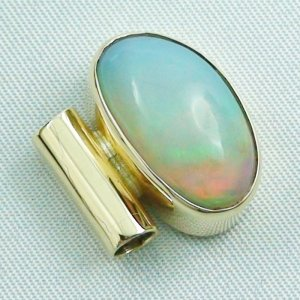 5,52 gr opalpendant, gold pendant 14k with Welo Opal, diamond, pic5