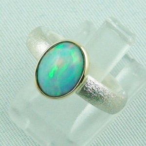 4.77 gr opalring, silverring with Welo opal 1.60 ct, ladies ring, pic2