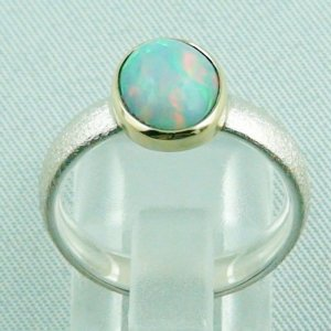 4.77 gr opalring, silverring with Welo opal 1.60 ct, ladies ring, pic4