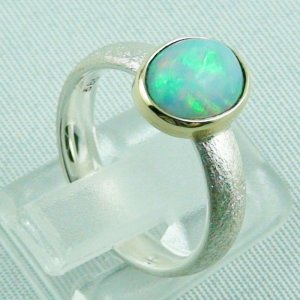 4.77 gr opalring, silverring with Welo opal 1.60 ct, ladies ring, pic5