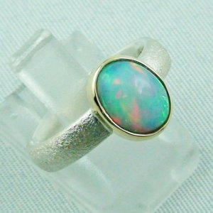 4.77 gr opalring, silverring with Welo opal 1.60 ct, ladies ring, pic6