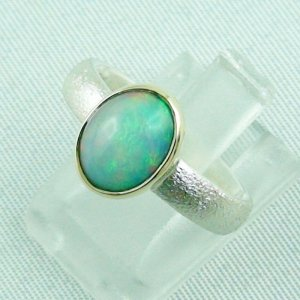 4.64 gr opalring, silverring with Welo opal 1.45 ct, ladies ring, pic2