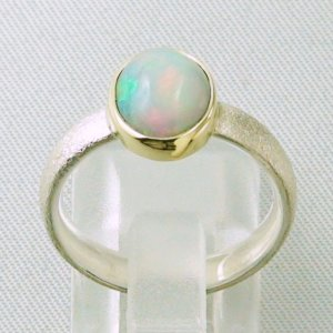 4.64 gr opalring, silverring with Welo opal 1.45 ct, ladies ring, pic4