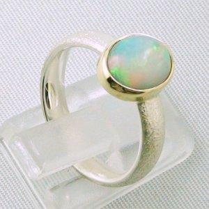 4.64 gr opalring, silverring with Welo opal 1.45 ct, ladies ring, pic5