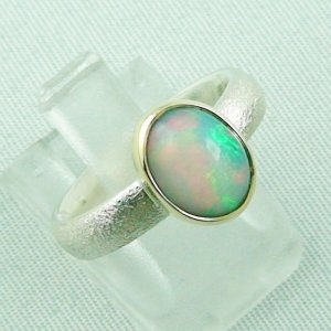 4.64 gr opalring, silverring with Welo opal 1.45 ct, ladies ring, pic6