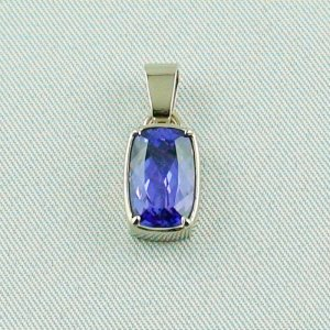 3.07 grams. palladium white gold pendant 18k with tanzanite 3,06 ct, pic1