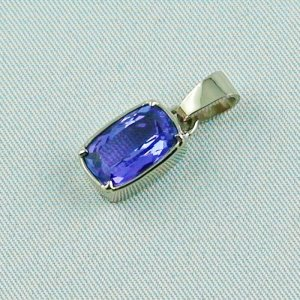 3.07 grams. palladium white gold pendant 18k with tanzanite 3,06 ct, pic2