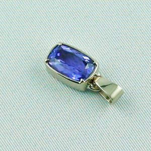 3.07 grams. palladium white gold pendant 18k with tanzanite 3,06 ct, pic3