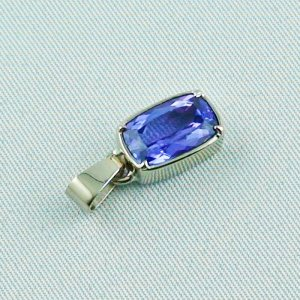 3.07 grams. palladium white gold pendant 18k with tanzanite 3,06 ct, pic5