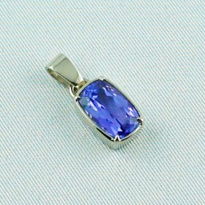 3.07 grams. palladium white gold pendant 18k with tanzanite 3,06 ct, pic6