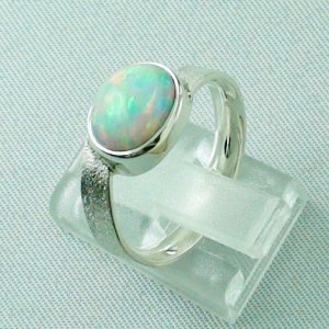 3.87 gr opalring, silverring with Welo opal 1.69 ct, ladies ring, pic3