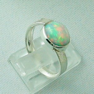 3.87 gr opalring, silverring with Welo opal 1.69 ct, ladies ring, pic5