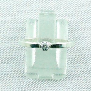2.29 gr diamondring, ladies ring, silverring with diamond 0.10 ct