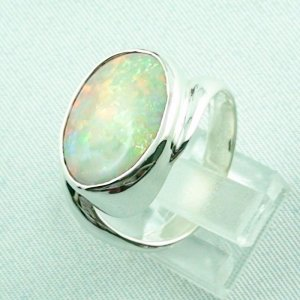 6.33 gr opalring, silverring with white opal, ladies ring, pic3