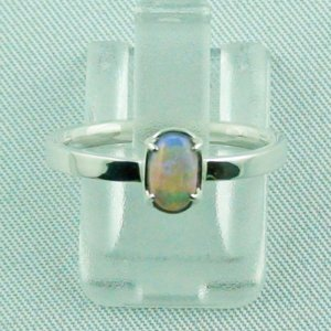 Opalring, designer ring, 0.39 ct Top Black Crystal Opal