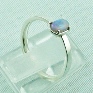 Opalring, designer ring, 0.39 ct Top Black Crystal Opal, pic5