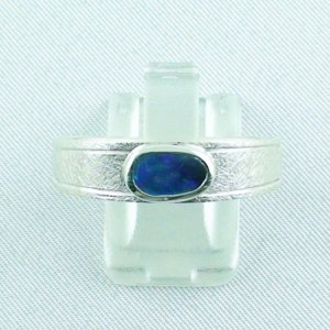 ❤️7.52 gr opalring, silverring with black opal 0.91 ct, men's ring, pic1