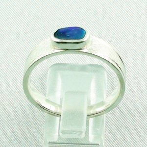 ❤️7.52 gr opalring, silverring with black opal 0.91 ct, men's ring, pic4