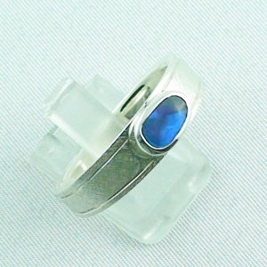 ❤️7.52 gr opalring, silverring with black opal 0.91 ct, men's ring, pic6