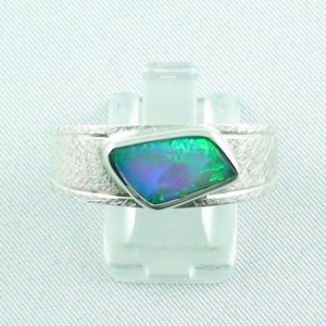 ❤️Opalring, designer ring, 1.77 ct Top Black Crystal Opal, pic1