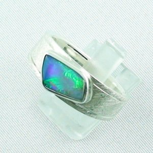 ❤️Opalring, designer ring, 1.77 ct Top Black Crystal Opal, pic2