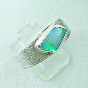 ❤️Opalring, designer ring, 1.77 ct Top Black Crystal Opal, pic6