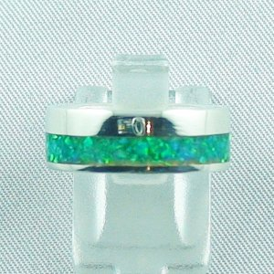 5,63 gr Silberring, Opal Inlay Emerald Green, Damenring, Bild1