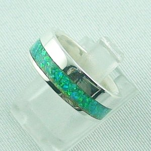 5,63 gr Silberring, Opal Inlay Emerald Green, Damenring, Bild2