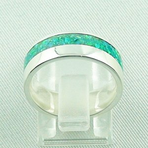 5,63 gr Silberring, Opal Inlay Emerald Green, Damenring, Bild4