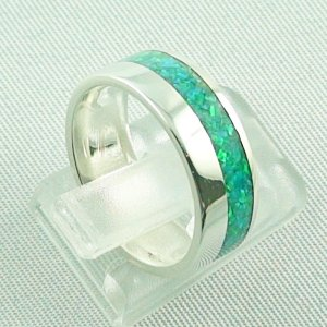 5,63 gr Silberring, Opal Inlay Emerald Green, Damenring, Bild5