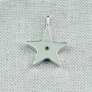 1,62 gr Opal Inlay Star-Pendant, Diamond, Silver Pendant, pic7