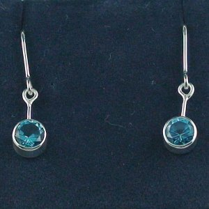 2,46 gr blue topaz earring, earrings 935 silver, pic1