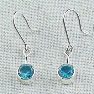 2,46 gr blue topaz earring, earrings 935 silver, pic2
