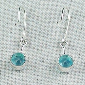 2,46 gr blue topaz earring, earrings 935 silver, pic4