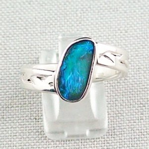 ❤️8.92 gr opal ring, silver ring, boulder opal 3.24 ct, men's ring, pic1