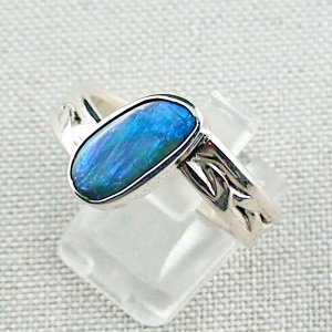 ❤️8.92 gr opal ring, silver ring, boulder opal 3.24 ct, men's ring, pic2