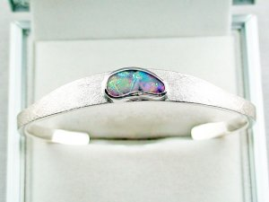 27.02 gr bangle silver 935 with Boulder opal 3.26 ct, pic1