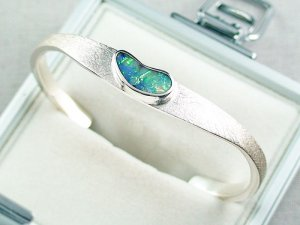 27.02 gr bangle silver 935 with Boulder opal 3.26 ct, pic5