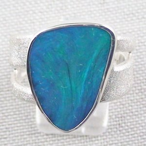 ❤️15.34 gr Opalring, Silverring with Black Opal 1,20 ct, Men's Ring, pic1