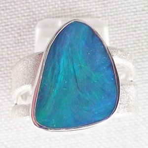 ❤️15.34 gr Opalring, Silverring with Black Opal 1,20 ct, Men's Ring, pic4