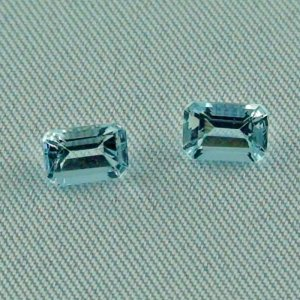 2 AAA Aquamarine Emerald Cut zus. 1,22 ct