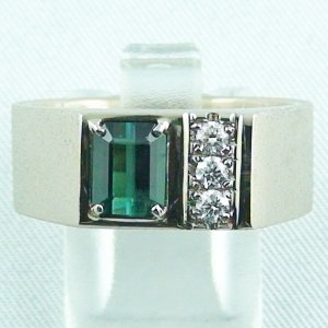 Tourmaline ring, goldring, tourmaline, 18k white gold 16.25 gr