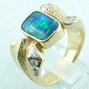 22.65 gr. opalring, 18k / 750 goldring with boulder opal 5.52 ct, pic3