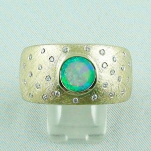 27,05 gr. opalring, 18k gold ring with opal, men's-ring, ladies-ring