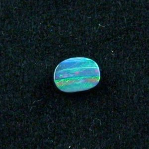 rainbow 1.67 ct boulder opal gemstone 8.50 x 6.14 x 2.74 mm